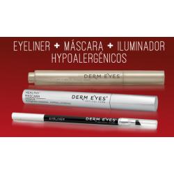 PACK DERMEYES: EYELINER + MÁSCARA + ILUMINADOR